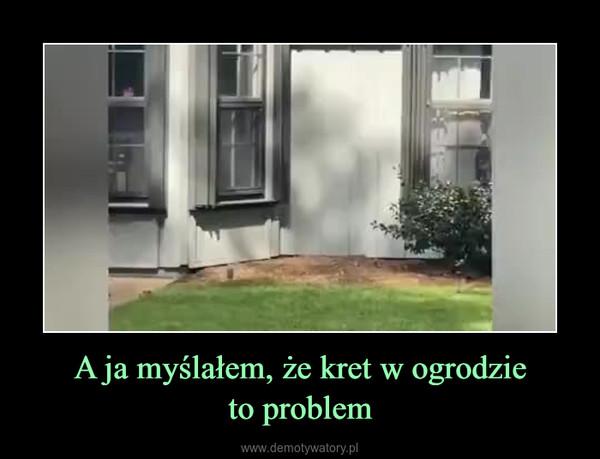 A ja myślałem, że kret w ogrodzieto problem –