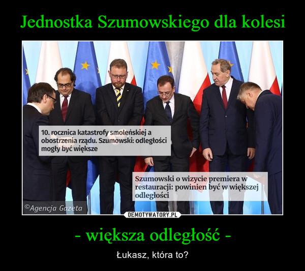 Jednostka Szumowskiego dla kolesi - większa odległość -