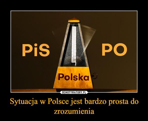 Sytuacja w Polsce jest bardzo prosta do zrozumienia –