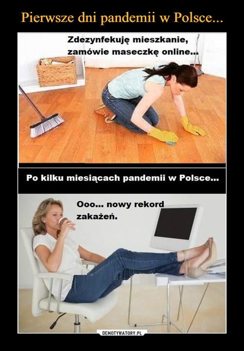 Pierwsze dni pandemii w Polsce...