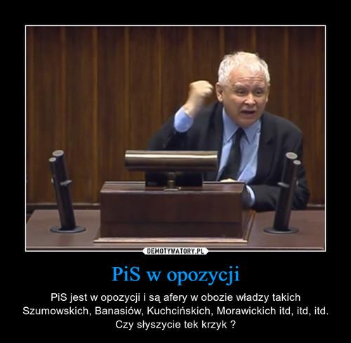 PiS w opozycji