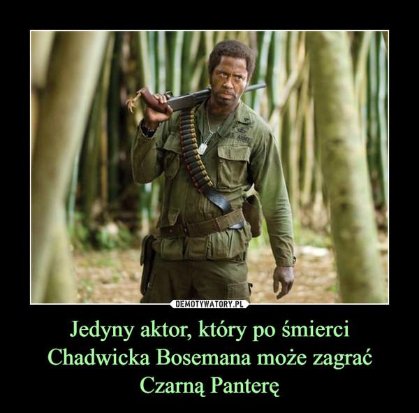 Jedyny aktor, który po śmierci Chadwicka Bosemana może zagrać Czarną Panterę –