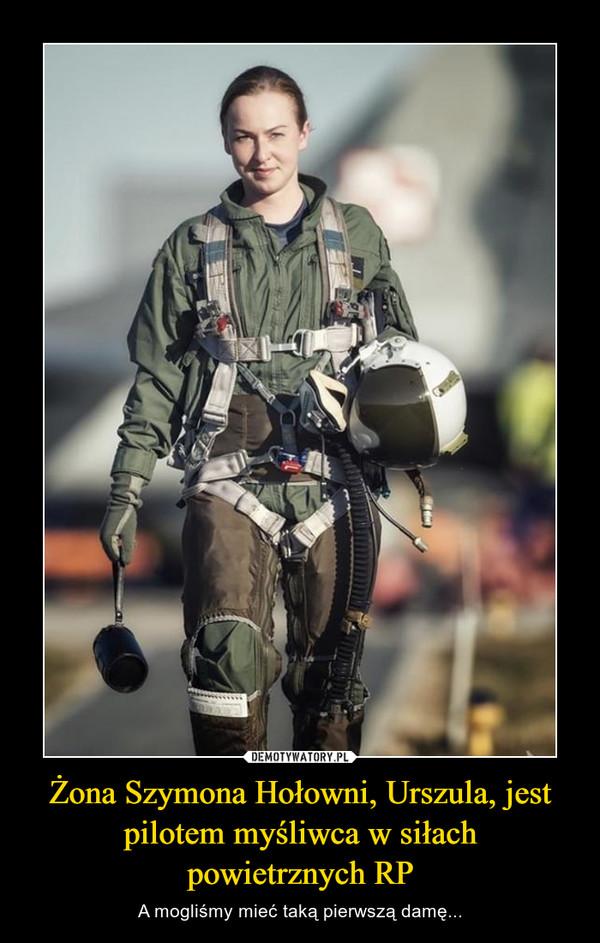 Żona Szymona Hołowni, Urszula, jest pilotem myśliwca w siłachpowietrznych RP – A mogliśmy mieć taką pierwszą damę...