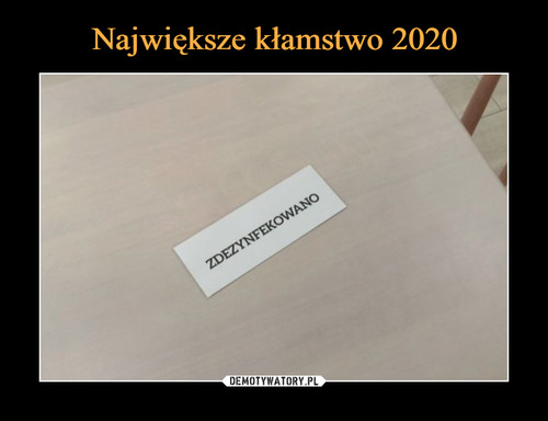 Największe kłamstwo 2020