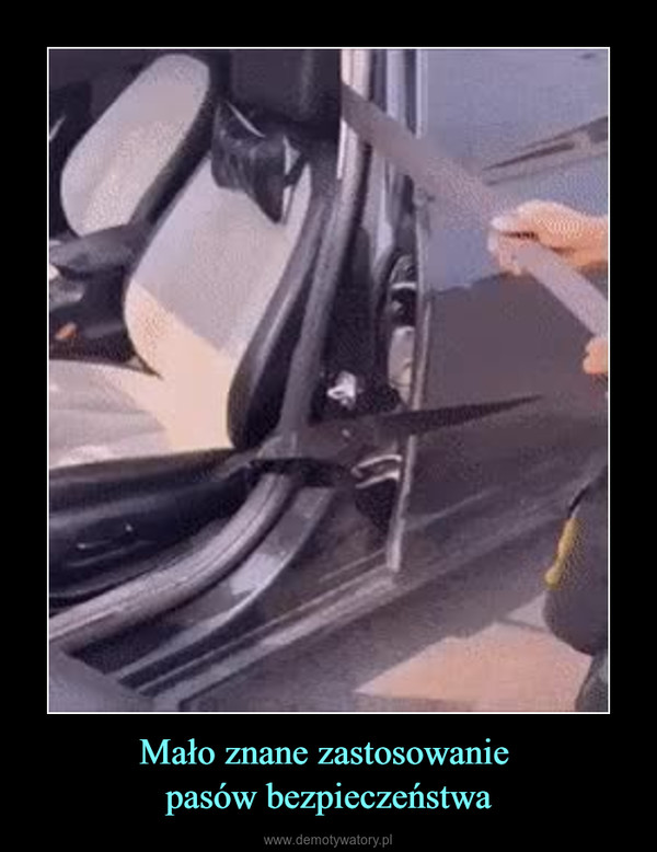 Mało znane zastosowanie pasów bezpieczeństwa –