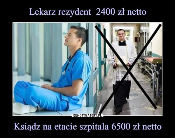 Ksiądz na etacie szpitala 6500 zł netto –