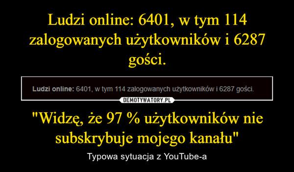 """""""Widzę, że 97 % użytkowników nie subskrybuje mojego kanału"""" – Typowa sytuacja z YouTube-a"""