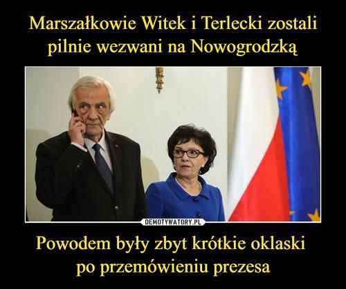 Marszałkowie Witek i Terlecki zostali pilnie wezwani na Nowogrodzką Powodem były zbyt krótkie oklaski  po przemówieniu prezesa