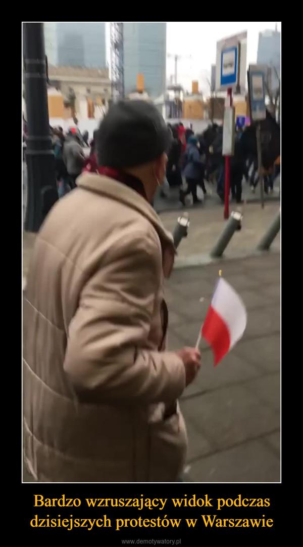 Bardzo wzruszający widok podczas dzisiejszych protestów w Warszawie –