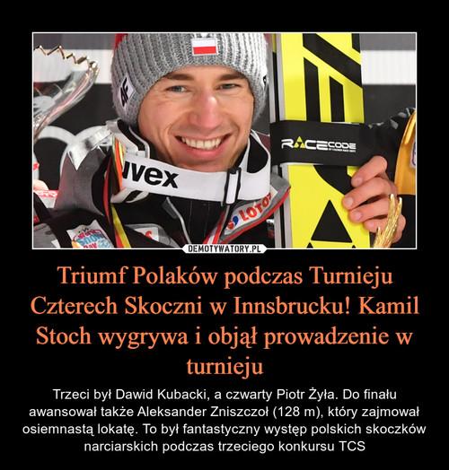 Triumf Polaków podczas Turnieju Czterech Skoczni w Innsbrucku! Kamil Stoch wygrywa i objął prowadzenie w turnieju