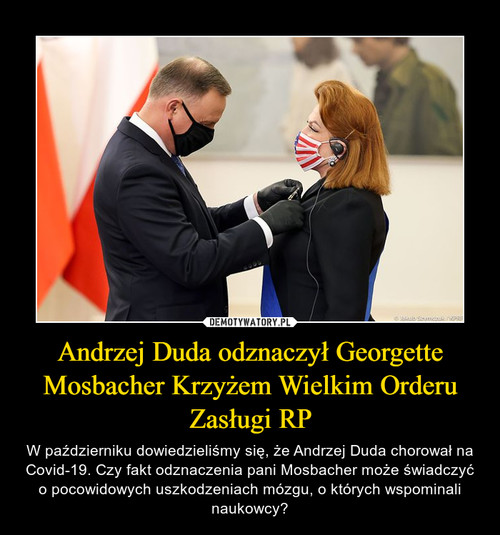 Andrzej Duda odznaczył Georgette Mosbacher Krzyżem Wielkim Orderu Zasługi RP