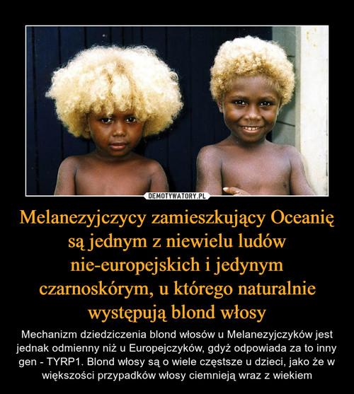 Melanezyjczycy zamieszkujący Oceanię są jednym z niewielu ludów nie-europejskich i jedynym czarnoskórym, u którego naturalnie występują blond włosy