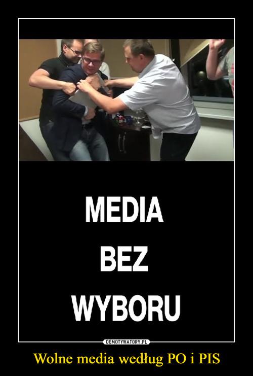 Wolne media według PO i PIS