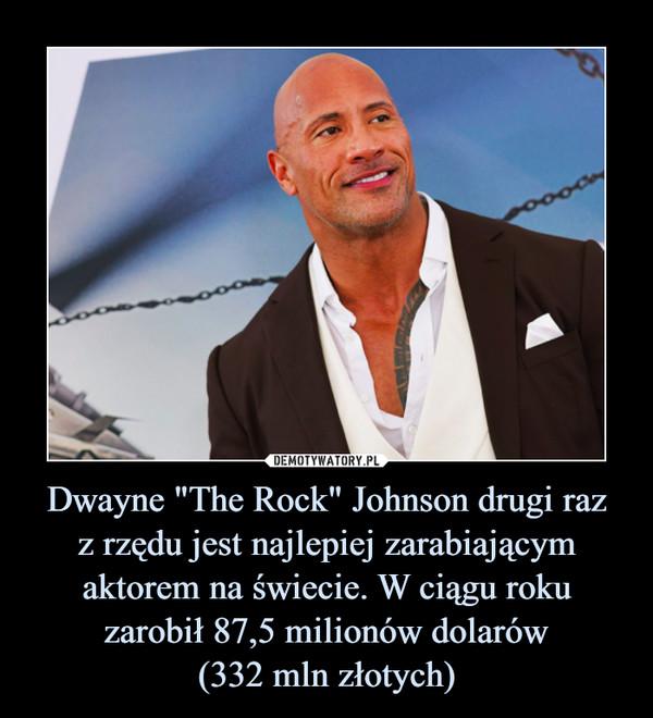"""Dwayne """"The Rock"""" Johnson drugi razz rzędu jest najlepiej zarabiającym aktorem na świecie. W ciągu roku zarobił 87,5 milionów dolarów(332 mln złotych) –"""