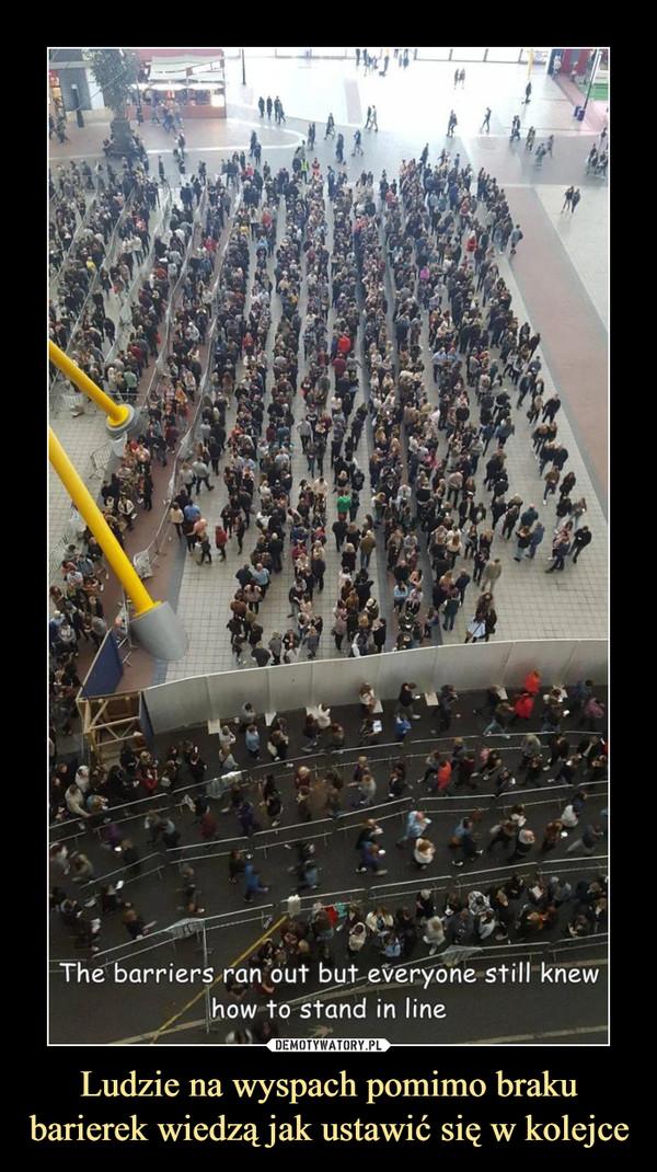 Ludzie na wyspach pomimo braku barierek wiedzą jak ustawić się w kolejce –