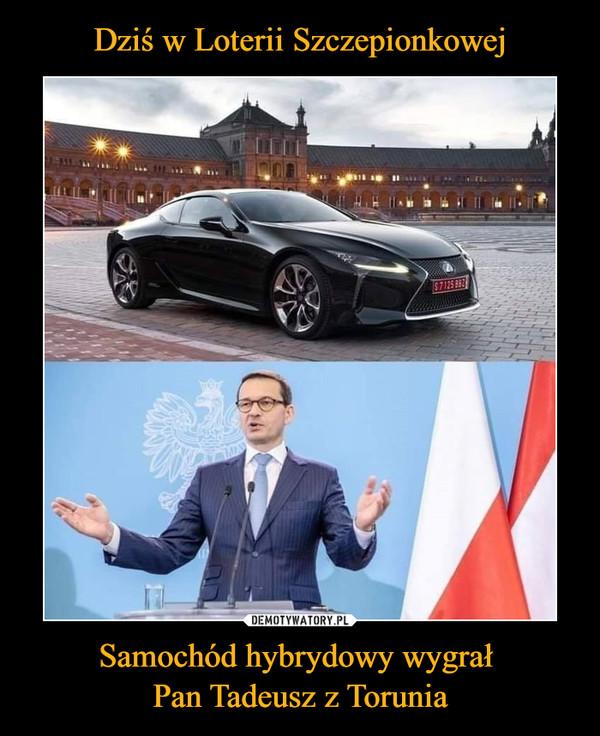 Samochód hybrydowy wygrał Pan Tadeusz z Torunia –