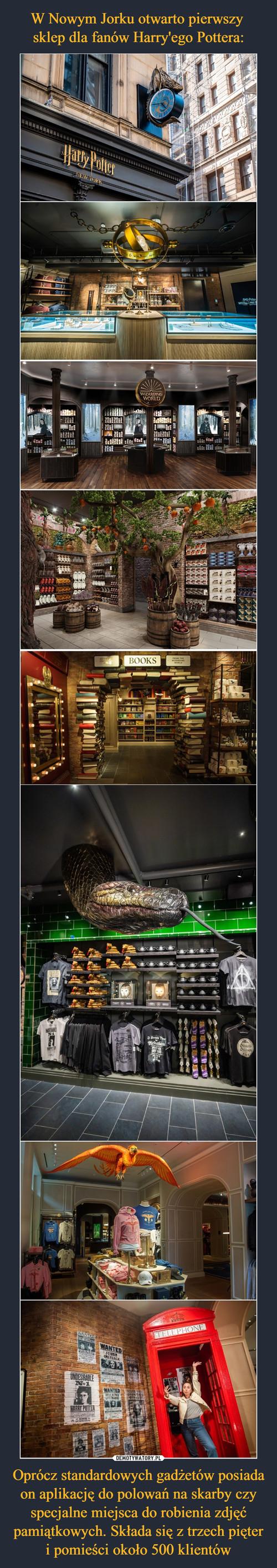 W Nowym Jorku otwarto pierwszy  sklep dla fanów Harry'ego Pottera: Oprócz standardowych gadżetów posiada on aplikację do polowań na skarby czy specjalne miejsca do robienia zdjęć pamiątkowych. Składa się z trzech pięter i pomieści około 500 klientów