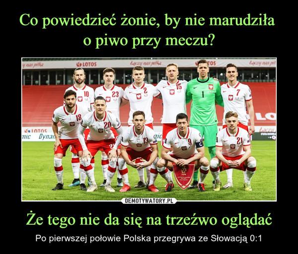 Że tego nie da się na trzeźwo oglądać – Po pierwszej połowie Polska przegrywa ze Słowacją 0:1