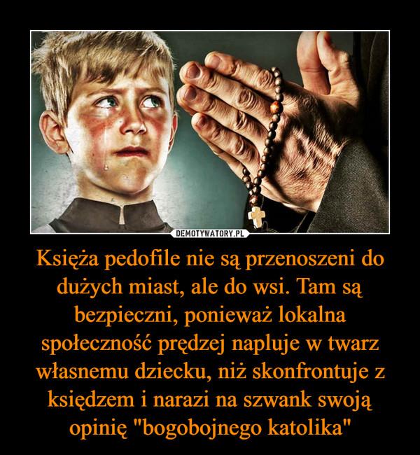 """Księża pedofile nie są przenoszeni do dużych miast, ale do wsi. Tam są bezpieczni, ponieważ lokalna społeczność prędzej napluje w twarz własnemu dziecku, niż skonfrontuje z księdzem i narazi na szwank swoją opinię """"bogobojnego katolika"""" –"""