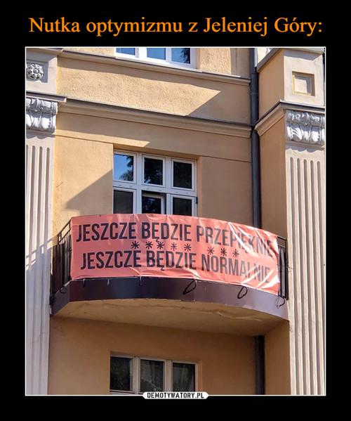 Nutka optymizmu z Jeleniej Góry: